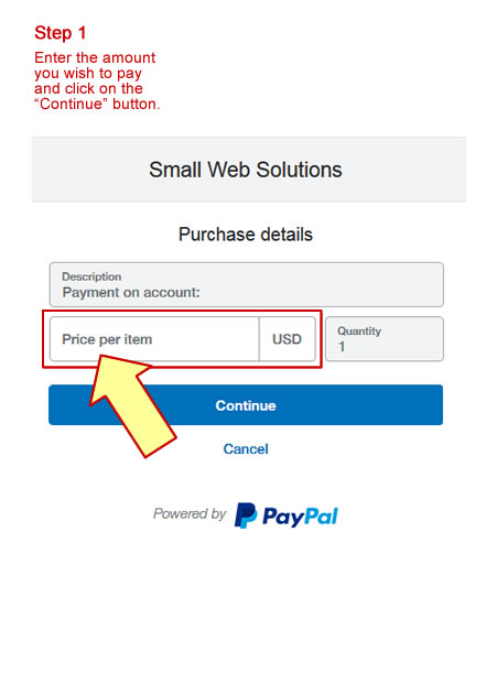 Online Credit Card Client Payment | Small Web Solutions